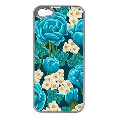 Light Blue Roses And Daisys Apple Iphone 5 Case (silver)
