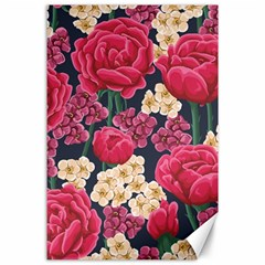 Pink Roses And Daisies Canvas 24  X 36  by AllThingsEveryone