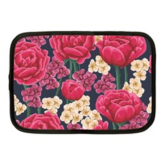 Pink Roses And Daisies Netbook Case (medium)
