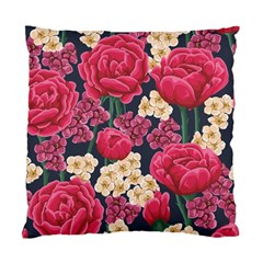 Pink Roses And Daisies Standard Cushion Case (two Sides) by AllThingsEveryone