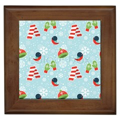 Winter Fun Pattern Framed Tiles by AllThingsEveryone