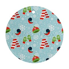 Winter Fun Pattern Ornament (round) by AllThingsEveryone