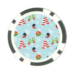 Winter Fun Pattern Poker Chip Card Guard by AllThingsEveryone