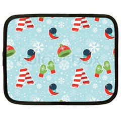 Winter Fun Pattern Netbook Case (large) by allthingseveryone