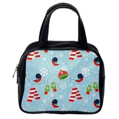 Winter Fun Pattern Classic Handbags (one Side) by AllThingsEveryone