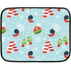 Winter Fun Pattern Double Sided Fleece Blanket (mini)  by AllThingsEveryone