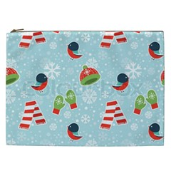 Winter Fun Pattern Cosmetic Bag (xxl)