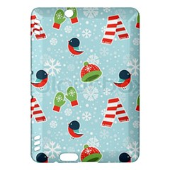 Winter Fun Pattern Kindle Fire Hdx Hardshell Case by AllThingsEveryone