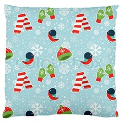 Winter Fun Pattern Large Flano Cushion Case (two Sides) by AllThingsEveryone