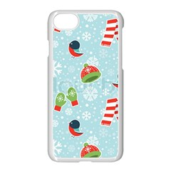 Winter Fun Pattern Apple Iphone 7 Seamless Case (white) by AllThingsEveryone