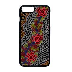 Aboriginal Art   Campsite Apple Iphone 8 Plus Seamless Case (black)