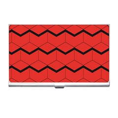 Red Box Pattern Business Card Holders by berwies