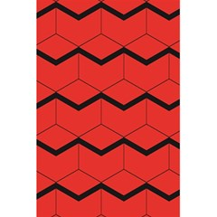 Red Box Pattern 5 5  X 8 5  Notebooks by berwies