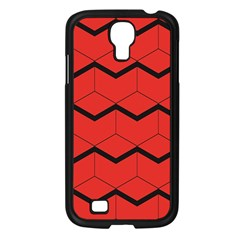 Red Box Pattern Samsung Galaxy S4 I9500/ I9505 Case (black) by berwies