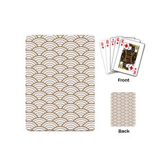 Art Deco,japanese Fan Pattern, Gold,white,vintage,chic,elegant,beautiful,shell Pattern, Modern,trendy Playing Cards (mini)  by 8fugoso