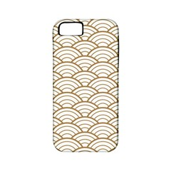 Art Deco,japanese Fan Pattern, Gold,white,vintage,chic,elegant,beautiful,shell Pattern, Modern,trendy Apple Iphone 5 Classic Hardshell Case (pc+silicone) by 8fugoso