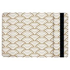 Art Deco,japanese Fan Pattern, Gold,white,vintage,chic,elegant,beautiful,shell Pattern, Modern,trendy Ipad Air Flip by 8fugoso