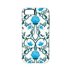 Art Nouveau, Art Deco, Floral,vintage,blue,green,white,beautiful,elegant,chic,modern,trendy,belle ¨|poque Apple Iphone 5 Classic Hardshell Case (pc+silicone) by 8fugoso