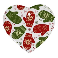 Winter Snow Mittens Ornament (heart) by AllThingsEveryone