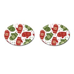 Winter Snow Mittens Cufflinks (oval) by AllThingsEveryone