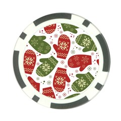Winter Snow Mittens Poker Chip Card Guard by AllThingsEveryone