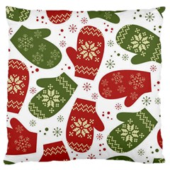 Winter Snow Mittens Large Cushion Case (two Sides) by AllThingsEveryone