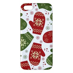 Winter Snow Mittens Apple Iphone 5 Premium Hardshell Case by allthingseveryone