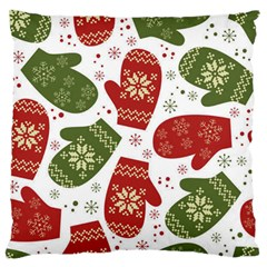 Winter Snow Mittens Large Flano Cushion Case (one Side) by AllThingsEveryone