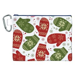Winter Snow Mittens Canvas Cosmetic Bag (xxl) by AllThingsEveryone
