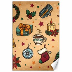 Cute Vintage Christmas Pattern Canvas 20  X 30   by AllThingsEveryone
