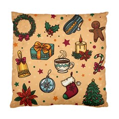 Cute Vintage Christmas Pattern Standard Cushion Case (one Side) by AllThingsEveryone
