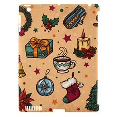 Cute Vintage Christmas Pattern Apple Ipad 3/4 Hardshell Case (compatible With Smart Cover) by allthingseveryone
