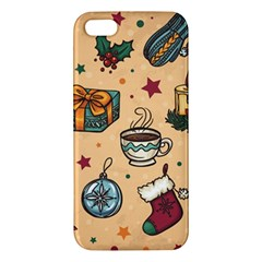 Cute Vintage Christmas Pattern Apple Iphone 5 Premium Hardshell Case by allthingseveryone