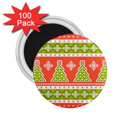 Christmas Tree Ugly Sweater Pattern 2 25  Magnets (100 Pack)  by allthingseveryone