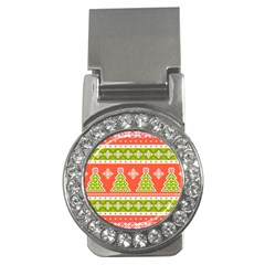 Christmas Tree Ugly Sweater Pattern Money Clips (cz)  by allthingseveryone