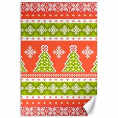 Christmas Tree Ugly Sweater Pattern Canvas 24  X 36  by AllThingsEveryone