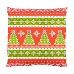 Christmas Tree Ugly Sweater Pattern Standard Cushion Case (two Sides) by AllThingsEveryone