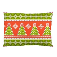 Christmas Tree Ugly Sweater Pattern Pillow Case by AllThingsEveryone