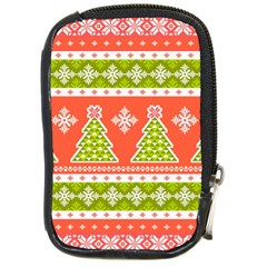Christmas Tree Ugly Sweater Pattern Compact Camera Cases by allthingseveryone