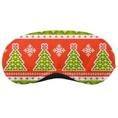 Christmas Tree Ugly Sweater Pattern Sleeping Masks by allthingseveryone