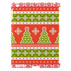 Christmas Tree Ugly Sweater Pattern Apple Ipad 3/4 Hardshell Case (compatible With Smart Cover) by AllThingsEveryone