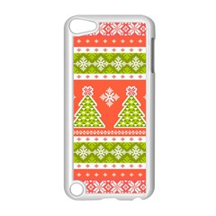 Christmas Tree Ugly Sweater Pattern Apple Ipod Touch 5 Case (white) by AllThingsEveryone