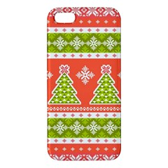 Christmas Tree Ugly Sweater Pattern Apple Iphone 5 Premium Hardshell Case by allthingseveryone