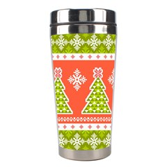 Christmas Tree Ugly Sweater Pattern Stainless Steel Travel Tumblers by allthingseveryone