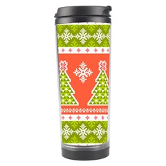 Christmas Tree Ugly Sweater Pattern Travel Tumbler by allthingseveryone