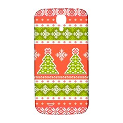 Christmas Tree Ugly Sweater Pattern Samsung Galaxy S4 I9500/i9505  Hardshell Back Case by allthingseveryone