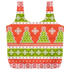 Christmas Tree Ugly Sweater Pattern Full Print Recycle Bags (l)  by allthingseveryone