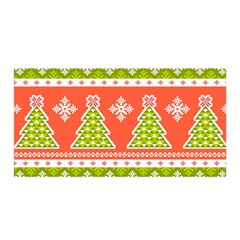 Christmas Tree Ugly Sweater Pattern Satin Wrap by allthingseveryone