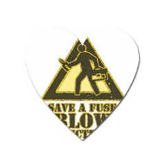 Save A Fuse Blow An Electrician Heart Magnet by FunnyShirtsAndStuff