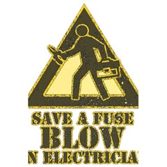 Save A Fuse Blow An Electrician 5 5  X 8 5  Notebooks by FunnyShirtsAndStuff